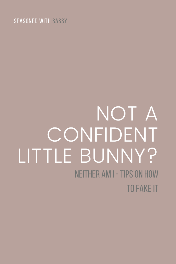 Not A Confident Little Bunny? Neither Am I