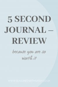 5 Second Journal – Review