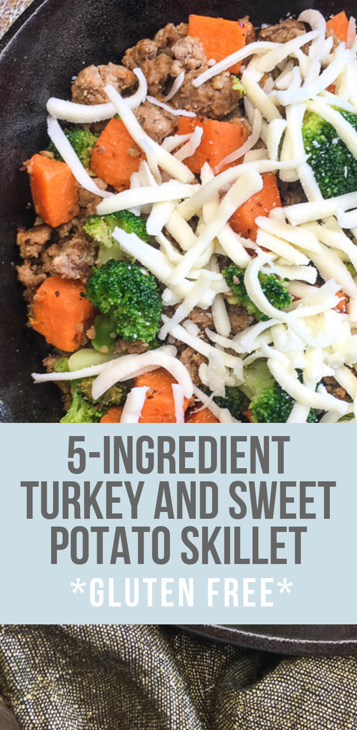 5 Ingredient Turkey and Sweet Potato Skillet